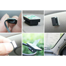 20*Black Plastic Car Wire Cord Cable Holder Tie Clips Fixer Convenient Practical