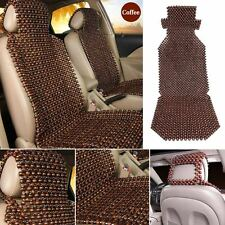 2x Natural Beaded Wooden Massage Healthy Car Trunk Seat Cover Cushion Pad Coffee