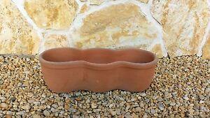 Terracotta Cotto Pflanztrog Pflanzkübel Dekoration Blumenschale Schale Cassette