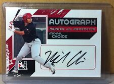 2011 IN THE GAME SILVER #A-MC MICHAEL CHOICE AUTOGRAPH RANGERS A'S AUTO