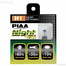 HE-822 (#10701) Piaa H1 noche Tech +90% más brillantes bombillas 12V 55W H1 (x2) ECE DOT