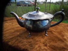 VINTAGE ALEX CLARK Co. Ltd. (London) SILVER PLATED TEA POT - UNCLEANED