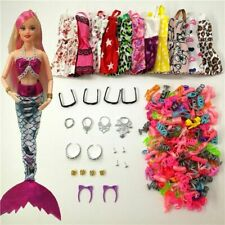 33 Pcs/Set Doll Mermaid Dress Clothes For Barbie Fashion Outfits Accessories