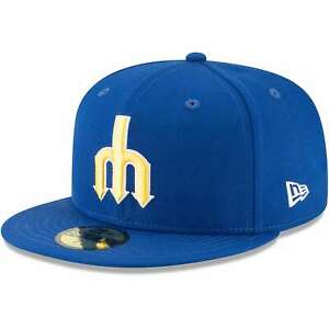 Seattle Mariners New Era Cooperstown Collection Wool 59FIFTY Fitted Hat - Blue
