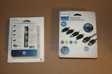 Philips 5-in-1 Universal USB Cable Kit w Adapters Micro USB-C USB-B Mini-B USB-A