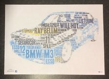 RACING BMW M3 Team LISTERINE Securicor Super Touring era Word Art ~ A4 POSTER