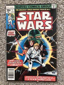 STAR WARS 1 MARVEL COMIC 1ST PRINT LUCAS FILM ROY THOMAS 1977 VF/NM
