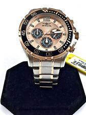 New INVICTA Men's Watch 16289 Stainless Steel 18k Rose Gold Ion Plated