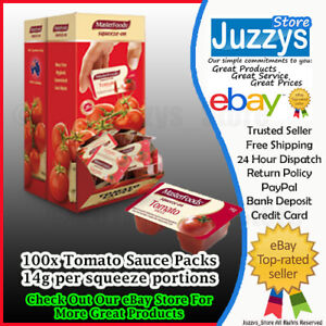 Masterfoods Tomato Sauce 14g portion control in a carton of 100x FREE POSTAGE