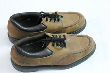 Men's Red Wings Brown Leather Casual 4 Hole Lace up Oxfords shoes Size 7 1/2 D