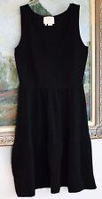 Kate Spade Naomi BLACK TEXTURED KNIT SWEATER TANK Dress Size M 8 10 $428 FLUTED