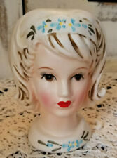 Vintage Leftons 1950s Teen Head Vase #1229 - Sticker Intact - Made in Japan