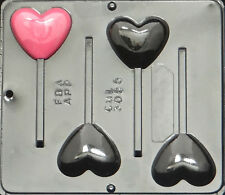 Heart Pop Lollipop Chocolate Candy Mold Valentine 3055 NEW