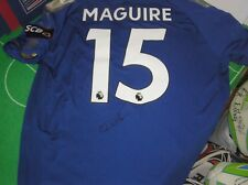 Harry Maguire Signed Leicester City FC 2017/18 Season Shirt - Name & Number!