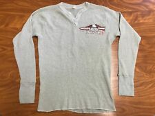 MEN VINTAGE 70'S 80'S HARLEY DAVIDSON LONG SLEEVE THERMAL 3D SHIRT SIZE XS SMALL