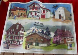 Old School Poster MDI Architecture Alsace House Provence Basque Algeria Savoie