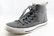 Converse All Star Size 8.5 M Gray Lace Up High Top Fabric Wmn Shoe