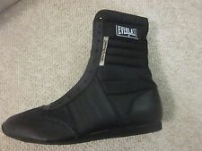"""EVERLAST 10"""" Black Boxing Shoes Vintage 4432 *Old Stock New Shoes* NIB Size 12"""