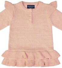 ANDY & EVAN Girls AGST44157-PK RUFFLE SHIMMER Rose Quartz SWEATER -  9-12 mos