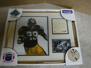 1994 PITTSBURGH STEELERS BARRY FOSTER KELLY RUSSELL STUDIOS FRAMED DISPLAY PIECE