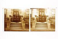 Famille Davanti il Suo Casa Francia Foto n46L4-5 Placca Lente Stereo Vintage