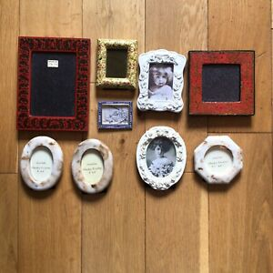 Job Lot Mixed Small Picture Photo Frames Art Painting Crafting x9