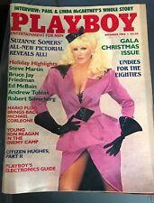Playboy Magazine December 1984 Suzanne Somers Undies for the 80s Karen Velez