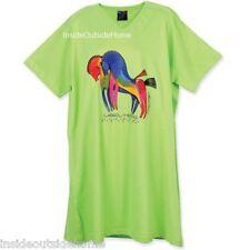 Laurel Burch Rainbow Horses CoverUp Night Shirt Long T Day Dress New Retired S/M
