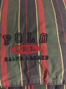 Ralph Lauren Polo Twin Green Multi Plaid  Down Filled Comforter Reversed Dark Bl
