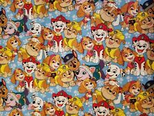 Fabric for Sewing Crafts Quilt Mask Paw Patrol Kids Pets 9x21 Scrap Cotton
