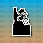 "Idaho State Mountain Bike MTB Ride Downhill 5"" Custom Vinyl Decal Sticker"