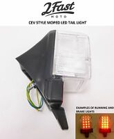 2FastMoto CEV LED Style Moped Clear Lens Red Tail Light Brake Light Assembly