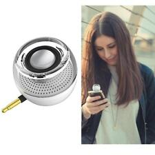 Wireless Line-in Mini Speaker W/ 3.5mm Audio Jack for Phone Plug&Play Silver