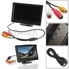 5 Inch TFT-LCD Car Rear View Rearview Monitor + Stand For Vehicle Reverse Camera