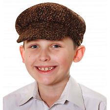 New Boys Kids Child Tudor Victorian Chimney Sweeper Flat Cap Hat Fancy Dress