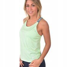 Détails sur Nike Femmes Course Sportshirt T Shirt NK Breathe Vent Arrière Barely