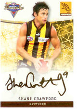 2007 Select AFL Champions Gold Foil Printed Signature FS46 Shane Carwford (Hawks