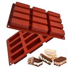 12 Celdas Barra de Chocolate Molde Silicona Caramelo Pastel Cubo de Hielo Molde