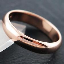 RING GENUINE REAL 18K ROSE G/F GOLD LADIES HALF ROUND DESIGN SOLID BAND SZ N
