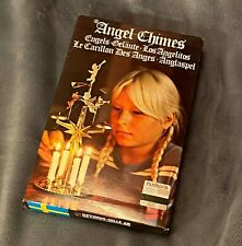 NEW VINTAGE OPTIMUS HILLE AB SWEDISH ANGEL CHIMES WITH CANDLES CHRISTMAS CHERUB