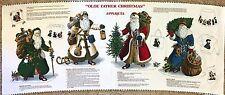 Victorian Santa Olde Father Christmas Applique Cranston Print Works Fabric Panel