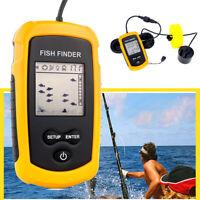 Portable LCD Fish Finder 100M Depth Wireless Sonar Sensor Sounder Fishfinder