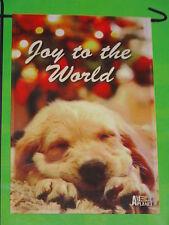 "Animal Planet Puppy Christmas Joy To The World Garden Flag 12""X18""-Free Shipping"