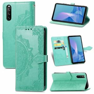Cover For Sony Xperia 10 III Case Wallet Cover 360 Case Cases Green