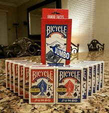 BICYCLE PLAYING CARDS 12 Decks * JUMBO Face * Red & Blue * New & Sealed