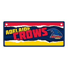 Official AFL Adelaide Crows Metal Tin Number Licence Plate Sign Decoration