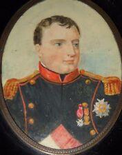 NAPOLEON PORTRAIT MINIATURE  19th C. IN UNIFORM OF IMPERIAL GUARD