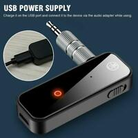 USB Wireless Bluetooth 5.0 Transmitter Receiver 2in1 Audio Adapter 3.5mm Jack US