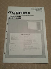 Toshiba Colour TV C-2695B Operating and Service Manuals Used original docs Toshi