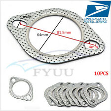 "10 Pcs Car CNC Aluminum 2.5"" 2-Bolt High Temp Exhaust Gasket Turbo/Header Flange"